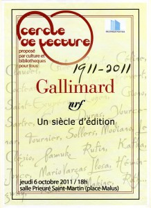 Affiche Cent ans Gallimard245
