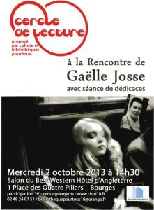 Affiche Gaëlle Josse556